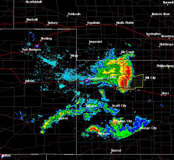 Radar Image for Severe Thunderstorms near Park, KS at 6/27/2020 11:12 PM CDT