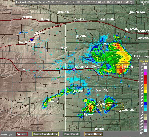 Radar Image for Severe Thunderstorms near Morland, KS at 6/27/2020 11:48 PM CDT