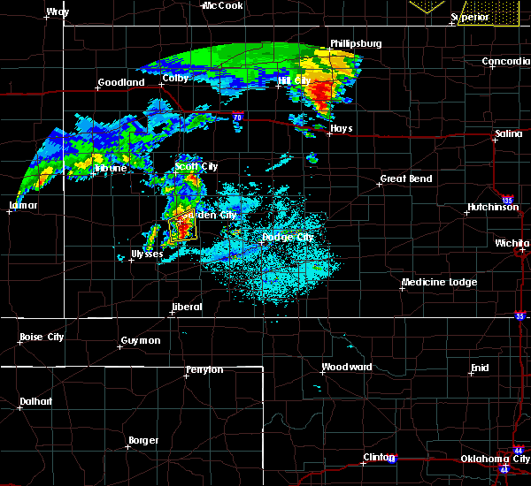 Radar Image for Severe Thunderstorms near Ingalls, KS at 6/28/2020 12:30 AM CDT