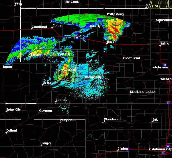 Radar Image for Severe Thunderstorms near Ingalls, KS at 6/28/2020 12:54 AM CDT