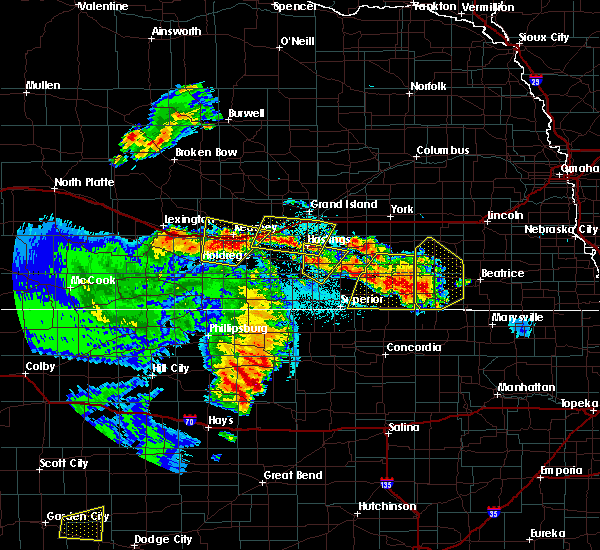 Radar Image for Severe Thunderstorms near Inland, NE at 6/28/2020 12:59 AM CDT