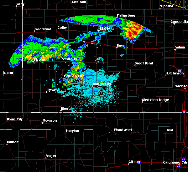 Radar Image for Severe Thunderstorms near Ingalls, KS at 6/28/2020 1:12 AM CDT