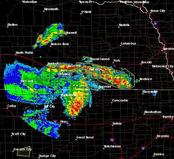 Radar Image for Severe Thunderstorms near Inland, NE at 6/28/2020 1:16 AM CDT