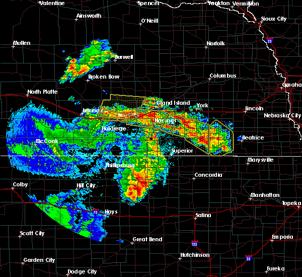 Radar Image for Severe Thunderstorms near Wood River, NE at 6/28/2020 1:23 AM CDT