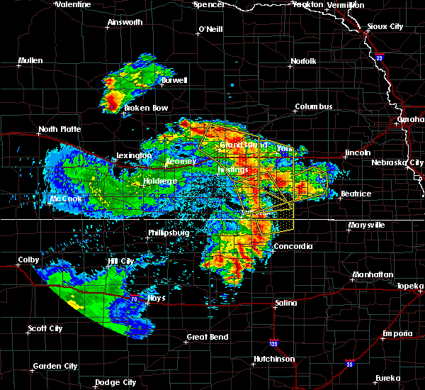 Radar Image for Severe Thunderstorms near Saronville, NE at 6/28/2020 2:01 AM CDT