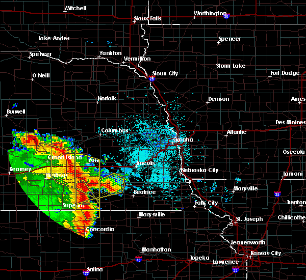 Radar Image for Severe Thunderstorms near Western, NE at 6/28/2020 2:15 AM CDT