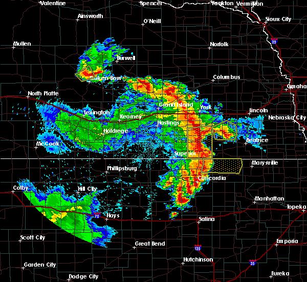 Radar Image for Severe Thunderstorms near Morrowville, KS at 6/28/2020 2:18 AM CDT