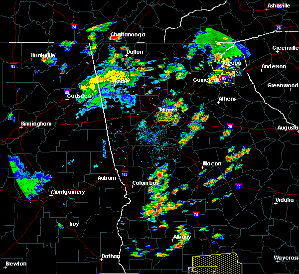 Radar Image for Severe Thunderstorms near Stone Mountain, GA at 6/30/2015 12:50 PM EDT