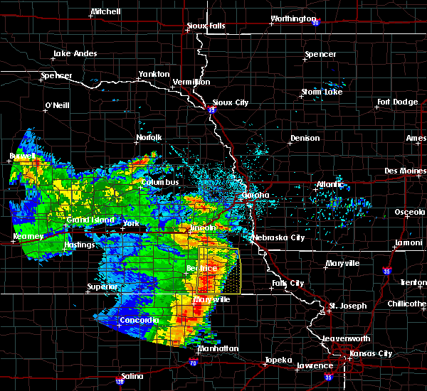 Radar Image for Severe Thunderstorms near Cook, NE at 6/28/2020 3:42 AM CDT