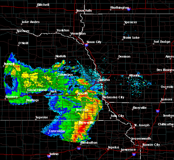Radar Image for Severe Thunderstorms near Syracuse, NE at 6/28/2020 3:54 AM CDT