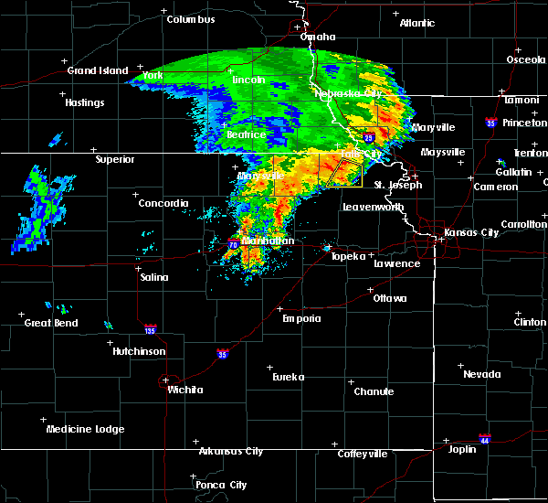 Radar Image for Severe Thunderstorms near Huron, KS at 6/28/2020 4:53 AM CDT