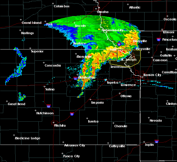 Radar Image for Severe Thunderstorms near Huron, KS at 6/28/2020 5:13 AM CDT