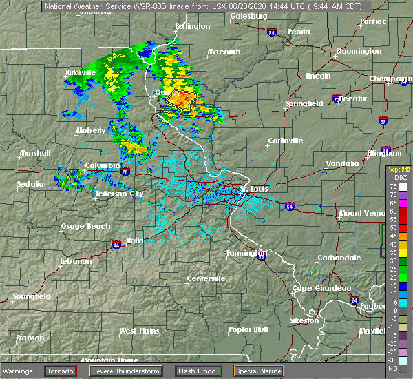 Radar Image for Severe Thunderstorms near New Salem, IL at 6/28/2020 9:49 AM CDT
