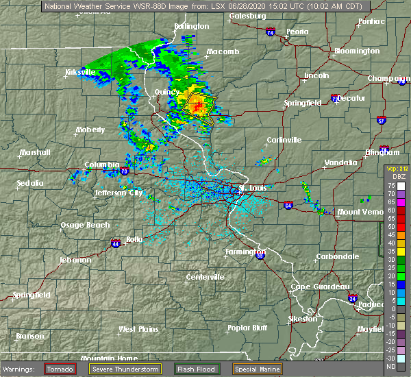 Radar Image for Severe Thunderstorms near New Salem, IL at 6/28/2020 10:07 AM CDT