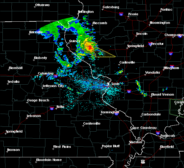 Radar Image for Severe Thunderstorms near Glasgow, IL at 6/28/2020 10:10 AM CDT