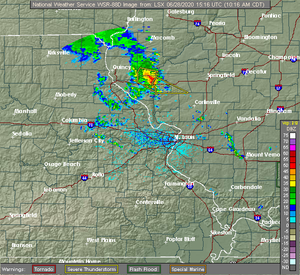 Radar Image for Severe Thunderstorms near Griggsville, IL at 6/28/2020 10:22 AM CDT