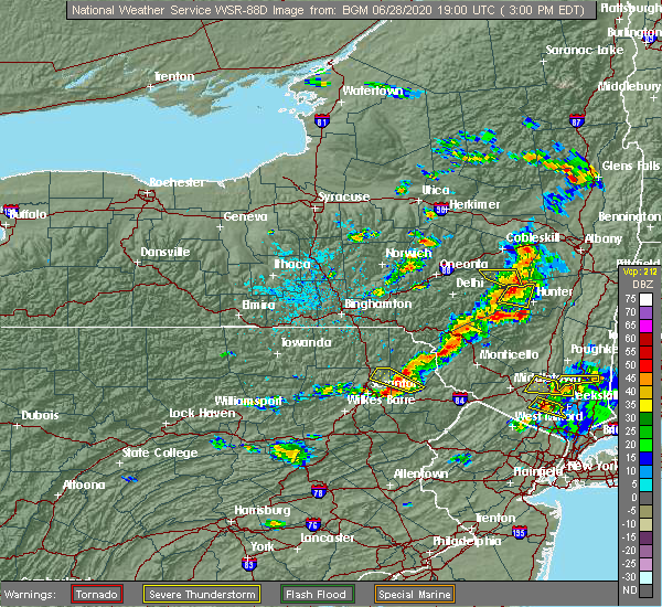 Radar Image for Severe Thunderstorms near Wallenpaupack Lake Estates, PA at 6/28/2020 3:04 PM EDT