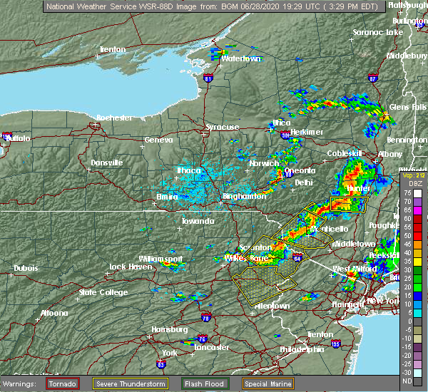 Radar Image for Severe Thunderstorms near Taylor, PA at 6/28/2020 3:33 PM EDT