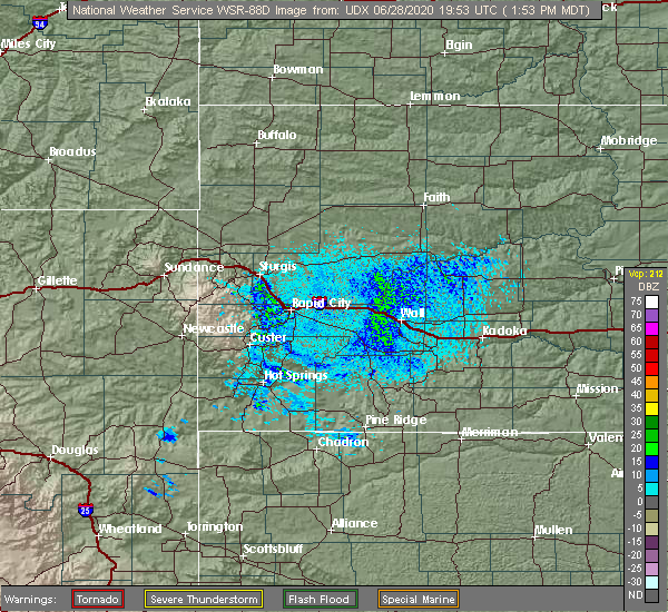 Radar Image for Severe Thunderstorms near Sleepy Hollow, WY at 6/28/2020 1:59 PM MDT
