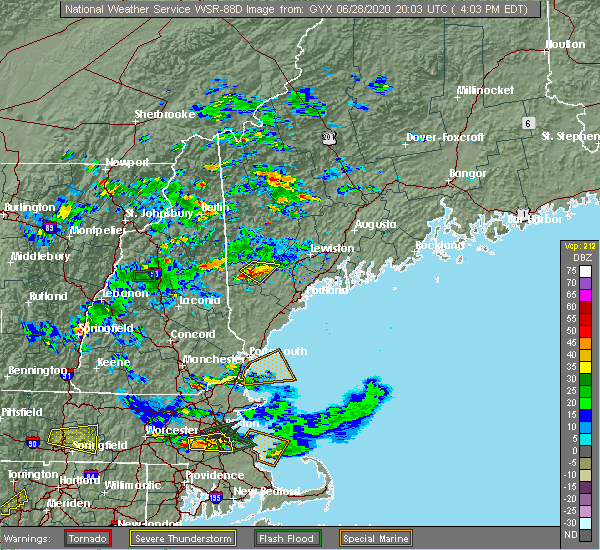 Radar Image for Severe Thunderstorms near Steep Falls, ME at 6/28/2020 4:07 PM EDT