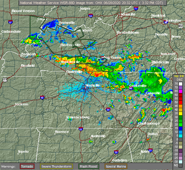Radar Image for Severe Thunderstorms near Portland, TN at 6/28/2020 3:40 PM CDT