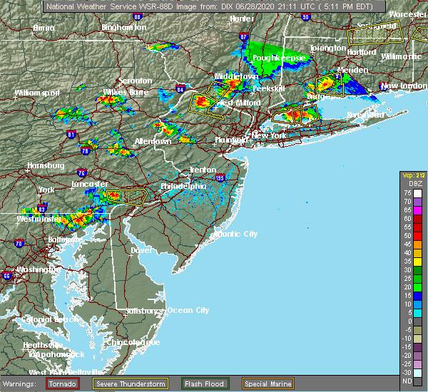 Radar Image for Severe Thunderstorms near Califon, NJ at 6/28/2020 5:17 PM EDT