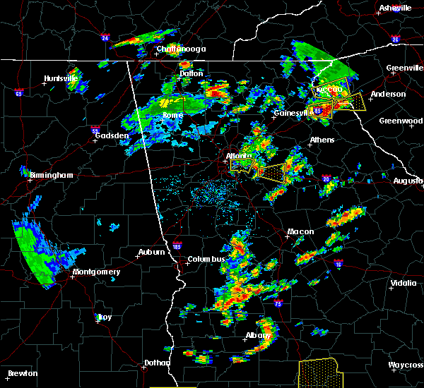 Radar Image for Severe Thunderstorms near Social Circle, GA at 6/30/2015 1:11 PM EDT