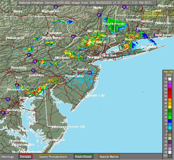 Radar Image for Severe Thunderstorms near Paoli, PA at 6/28/2020 5:40 PM EDT