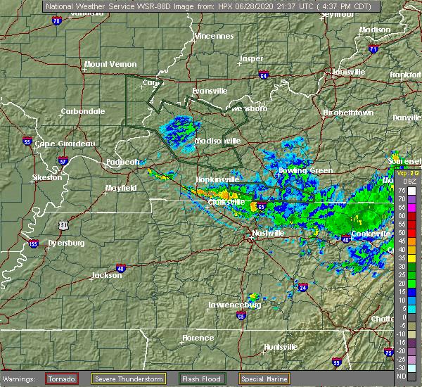 Radar Image for Severe Thunderstorms near Allensville, KY at 6/28/2020 4:41 PM CDT