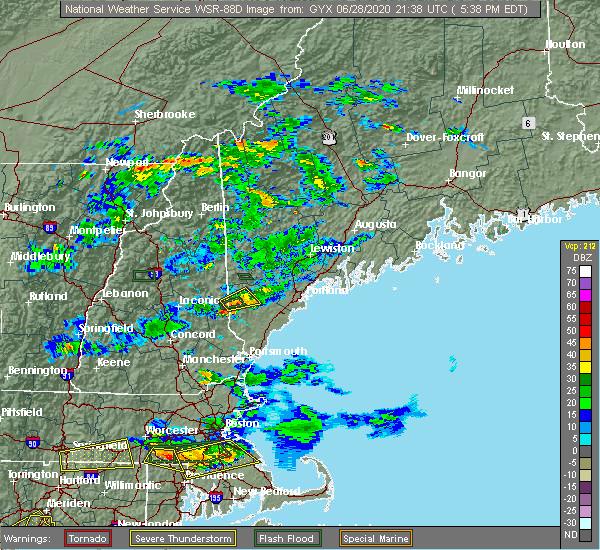 Radar Image for Severe Thunderstorms near Springvale, ME at 6/28/2020 5:42 PM EDT