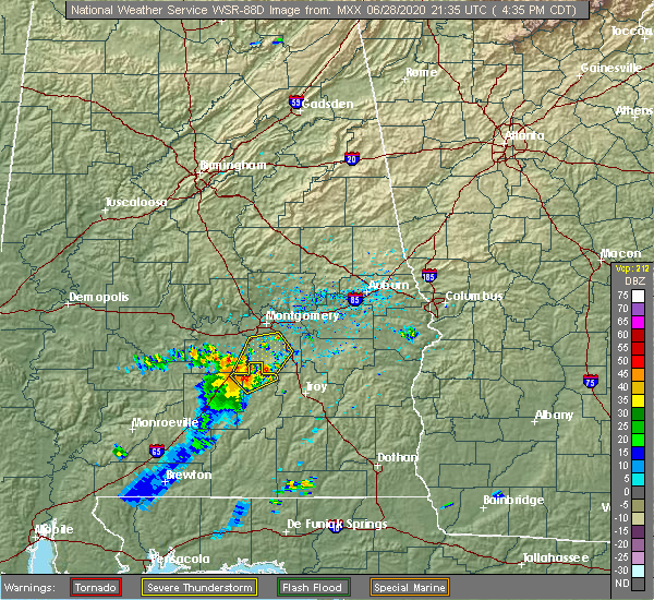 Radar Image for Severe Thunderstorms near Pike Road, AL at 6/28/2020 4:43 PM CDT