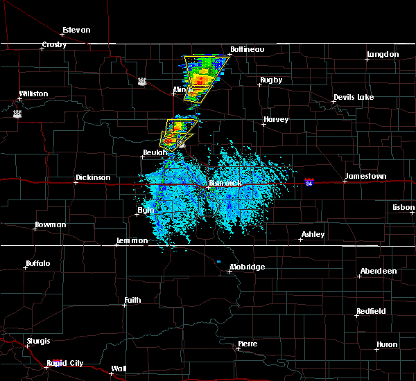 Radar Image for Severe Thunderstorms near Riverdale, ND at 6/28/2020 4:54 PM CDT