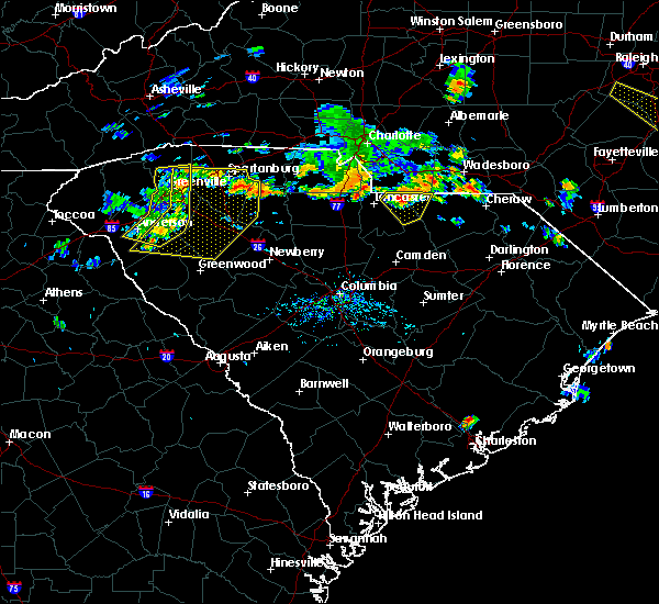 Radar Image for Severe Thunderstorms near Jefferson, SC at 6/28/2020 6:03 PM EDT