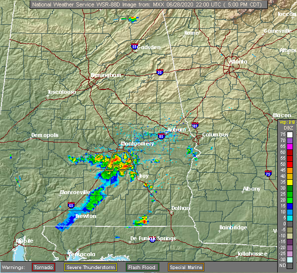 Radar Image for Severe Thunderstorms near Pike Road, AL at 6/28/2020 5:06 PM CDT