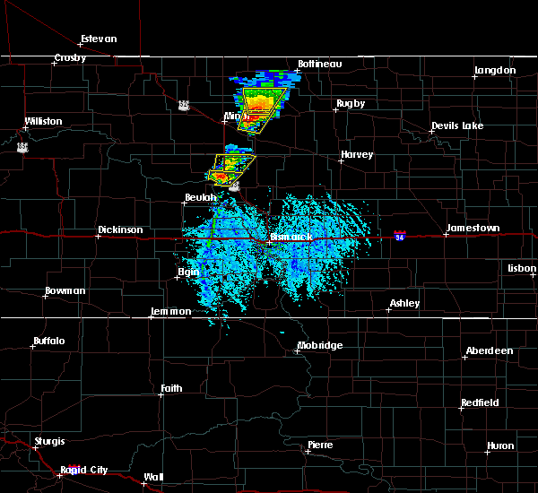 Radar Image for Severe Thunderstorms near Riverdale, ND at 6/28/2020 5:04 PM CDT