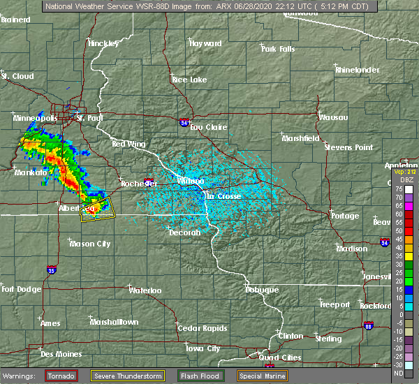 Radar Image for Severe Thunderstorms near Taopi, MN at 6/28/2020 5:17 PM CDT