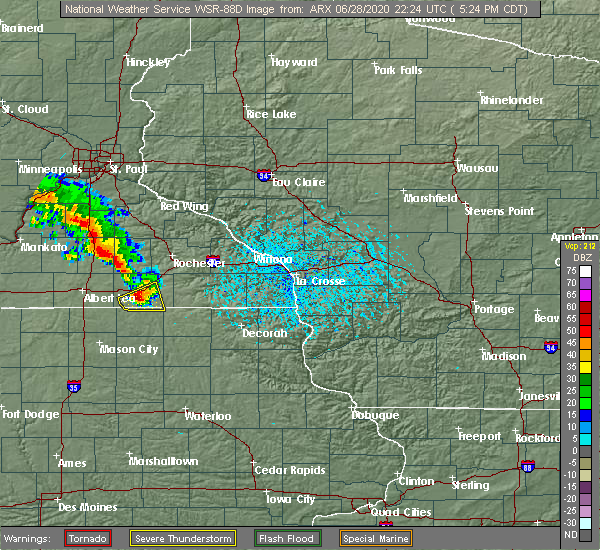 Radar Image for Severe Thunderstorms near Taopi, MN at 6/28/2020 5:29 PM CDT