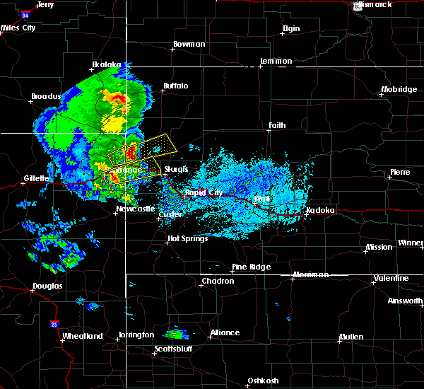 Radar Image for Severe Thunderstorms near Buffalo, SD at 6/28/2020 4:55 PM MDT