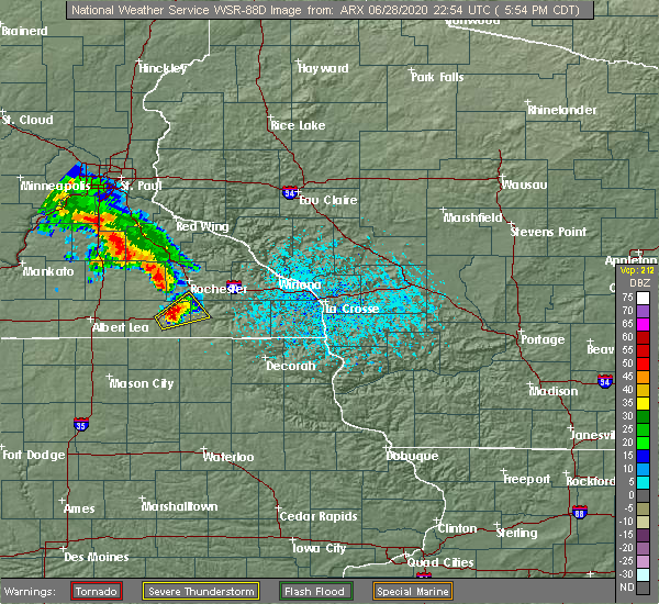 Radar Image for Severe Thunderstorms near Rochester, MN at 6/28/2020 6:00 PM CDT