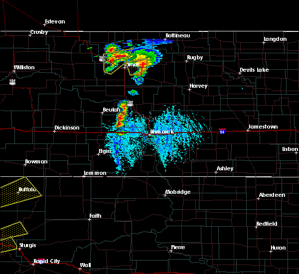 Radar Image for Severe Thunderstorms near Riverdale, ND at 6/28/2020 6:03 PM CDT