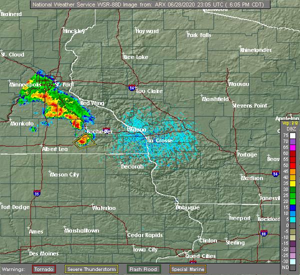 Radar Image for Severe Thunderstorms near Stewartville, MN at 6/28/2020 6:11 PM CDT
