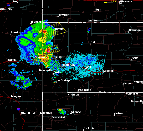 Radar Image for Severe Thunderstorms near Buffalo, SD at 6/28/2020 5:13 PM MDT