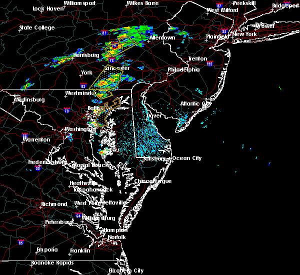 Radar Image for Severe Thunderstorms near Bel Air North, MD at 6/30/2015 1:21 PM EDT