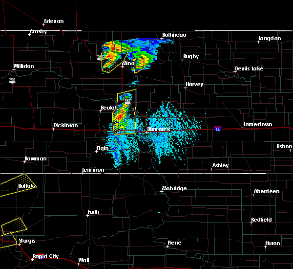 Radar Image for Severe Thunderstorms near Riverdale, ND at 6/28/2020 6:21 PM CDT
