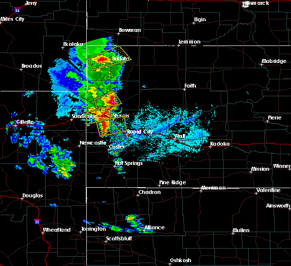 Radar Image for Severe Thunderstorms near Sturgis, SD at 6/28/2020 5:35 PM MDT