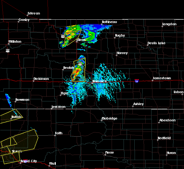 Radar Image for Severe Thunderstorms near Center, ND at 6/28/2020 6:39 PM CDT