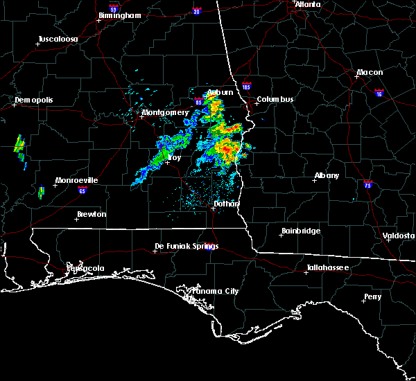 Radar Image for Severe Thunderstorms near Eufaula, AL at 6/28/2020 6:52 PM CDT