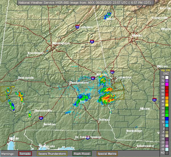 Radar Image for Severe Thunderstorms near Columbus, GA at 6/28/2020 8:05 PM EDT