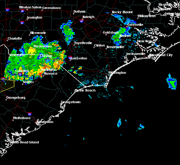 Radar Image for Severe Thunderstorms near Florence, SC at 6/28/2020 8:09 PM EDT