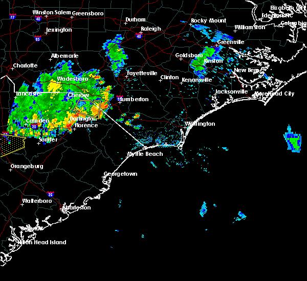 Radar Image for Severe Thunderstorms near Dillon, SC at 6/28/2020 8:09 PM EDT